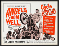 """Angels from Hell (American International, 1968). Half Sheet (22"""" X 28""""). Action"""