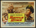 "Movie Posters:War, Battle Hymn (Universal International, 1957). Half Sheet (22"" X28""). Style B. War.. ..."