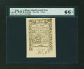 Colonial Notes:Rhode Island, Rhode Island May 1786 6d PMG Gem Uncirculated 66 EPQ....