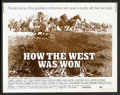 "Movie Posters:Western, How the West Was Won (MGM, R-1970). Half Sheet (22"" X 28""). Western.. ..."