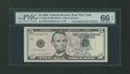 Up Ladder Fr. 1993-B $5 2006 Federal Reserve Note. PMG Gem Uncirculated 66 EPQ