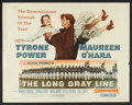 "Movie Posters:Drama, The Long Gray Line (Columbia, 1955). Half Sheet (22"" X 28"") Style B. Drama.. ..."