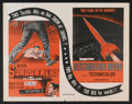 "Movie Posters:Science Fiction, Destination Moon/The Sundowners Combo (United Artists, R-1954). Half Sheet (22"" X 28""). Science Fiction.. ..."