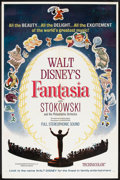 "Movie Posters:Animated, Fantasia (Buena Vista, R-1963). One Sheet (27"" X 41""). Animated.. ..."