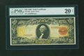 Large Size:Gold Certificates, Fr. 1180 $20 1905 Gold Certificate PMG Very Fine 20 Net....