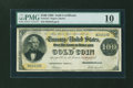 Large Size:Gold Certificates, Fr. 1212 $100 1882 Gold Certificate PMG Very Good 10....