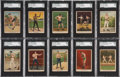 Boxing Cards:General, 1910 T223 Dixie Queen Boxing Near Set (49/50)....