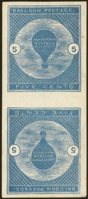 5c Dark Blue, Tête-Bêche Pair (CL1a)