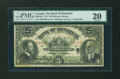 Canadian Currency: , Montreal, PQ- The Bank of Montreal $5 Nov. 3, 1914 Ch. # 505-54-04....