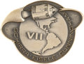 Explorers:Space Exploration, Apollo 7 Flown Silver Robbins Medallion Originally from thePersonal Collection of Mission Support Crew Member Ron Evans,Seri...