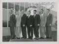 """Autographs:Celebrities, """"Mercury Seven"""" NASA Astronauts Group Photo at McDonnell Aircraft,Signed by All...."""