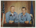 Autographs:Celebrities, Neil Armstrong and Richard Gordon Signed Color Photo....