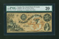 Canadian Currency: , Toronto, CW- The Colonial Bank of Canada $5 Apr. 4, 1859 Ch. #130-10-02-10. ...
