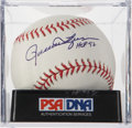 Autographs:Baseballs, Rollie Fingers Single Signed Baseball PSA Mint 9. ...
