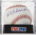 Autographs:Baseballs, Red Schoendienst Single Signed Baseball PSA Mint+ 9.5....