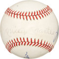 Autographs:Baseballs, Mickey Mantle, Willie Mays and Duke Snider Signed Baseball. ...