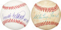 Autographs:Baseballs, Whitey Ford and Frank Robinson Single Signed Baseballs. ... (Total:2 items)
