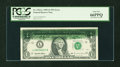 Error Notes:Ink Smears, Fr. 1922-L $1 1995 Federal Reserve Note. PCGS Gem New 66PPQ....