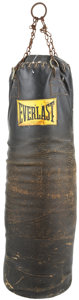 Boxing Collectibles:Memorabilia, 1970's Muhammad Ali Used Heavy Bag from Deer Lake Training Camp....