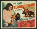 """Movie Posters:Drama, Blood and Sand (20th Century Fox, 1941). Title Lobby Card (11"""" X 14""""). Drama.. ..."""