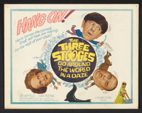"""The Three Stooges Go Around the World in a Daze (Columbia, 1963). Lobby Card Set of 8 (11"""" X 14""""). Comedy..."""