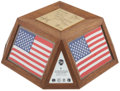 Explorers:Space Exploration, Apollo 17, Apollo-Soyuz Test Project, and Skylab 1: Flown AmericanFlags in a Display Presentation Originally from the Per...