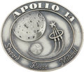 Explorers:Space Exploration, Apollo 14 Flown Silver Robbins Medallion Directly from the PersonalCollection of Mission Lunar Module Pilot Edgar Mitchell, S...