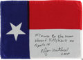 Explorers:Space Exploration, Apollo 14 Flown Texas State Flag Directly from the Personal Collection of Mission Lunar Module Pilot Edgar Mitchell, Certified...