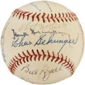 Autographs:Baseballs, Detroit Tigers Old Timers Multi-Signed Baseball from Elden AukerCollection. ...