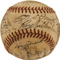 Autographs:Baseballs, 1945 Detroit Tigers Team Signed Baseball from Elden AukerCollection. ...