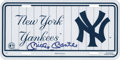 Autographs:Others, Mickey Mantle Signed New York Yankees License Plate. ...