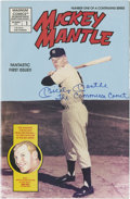 Autographs:Others, Mickey Mantle Signed Comic Book. ...