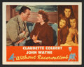 "Movie Posters:Comedy, Without Reservations (RKO, 1946). Lobby Card (11"" X 14""). Comedy.. ..."