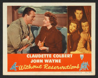 "Without Reservations (RKO, 1946). Lobby Card (11"" X 14""). Comedy"