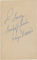 Autographs:Others, Roger Maris Signed Waiter's Check. ...