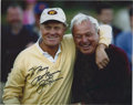 Golf Collectibles:Autographs, Jack Nicklaus and Arnold Palmer Dual-Signed Photograph. ...