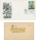 Autographs:Post Cards, 1952 Ty Cobb Signed Government Postcard ...