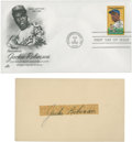 Autographs:Post Cards, 1954 Jackie Robinson Signed Government Postcard. ...