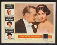 """Love In The Afternoon (Allied Artists, 1957). Lobby Card Set of 8 (11"""" X 14""""). Romance. ... (Total: 8 Items)"""
