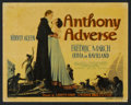 """Movie Posters:Adventure, Anthony Adverse (Warner Brothers, 1936). Title Lobby Card and LobbyCard (11"""" X 14""""). Adventure.. ... (Total: 2 Items)"""