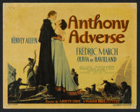 "Anthony Adverse (Warner Brothers, 1936). Title Lobby Card and Lobby Card (11"" X 14""). Adventure. ... (Total: 2..."