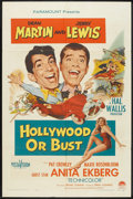 """Movie Posters:Comedy, Hollywood or Bust (Paramount, 1956). One Sheet (27"""" X 41""""). Comedy.. ..."""