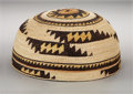 American Indian Art:Baskets, A WIYOT-KARUK POLYCHROME TWINED HAT. Elizabeth Hickox. c. 1905...