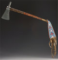 Paintings, AN INTERMONTANE PIPE TOMAHAWK. Possibly Crow. c. 1880...