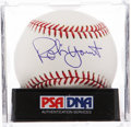 Autographs:Baseballs, Robin Yount Single Signed Baseball PSA Mint 9. ...