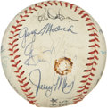 Autographs:Baseballs, 1973 New York Yankees Team Signed Baseball. ...