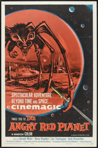 "The Angry Red Planet (American International, 1960). One Sheet (27"" X 41""). Science Fiction"