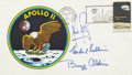 Autographs:Celebrities, Apollo 11 Crew-Signed Type II Insurance Cover Originally from the Personal Collection of Mission Lunar Module Pilot Buzz Aldri...