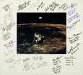Autographs:Celebrities, NASA Astronauts: Color Photo in Mat Signed by Twenty-Eight. ...