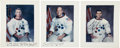 Autographs:Celebrities, Apollo 17 Crew-Signed Individual White Spacesuit Color Photos. ...(Total: 3 Items)